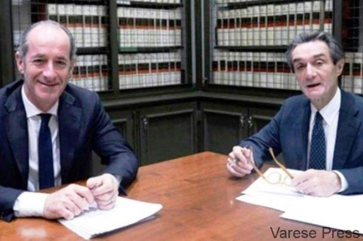 Fontana e Zaia: lettera aperta al Presidente Conte