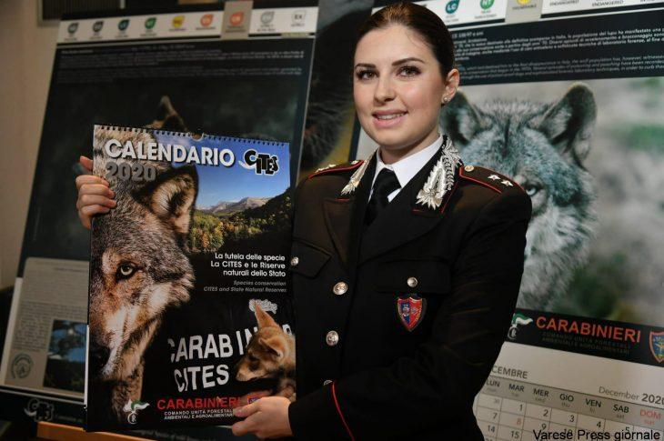 Carabinieri: presentato il calendario CITES 2020